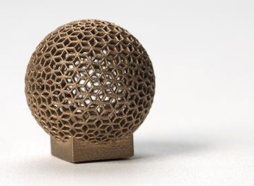 Aluminum DMLS 3D printing for Sphere Shape , Golden electroplating